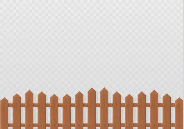 Houten hek illustratie op witte achtergrond. stel pictogrammen hek gemaakt van illustratie