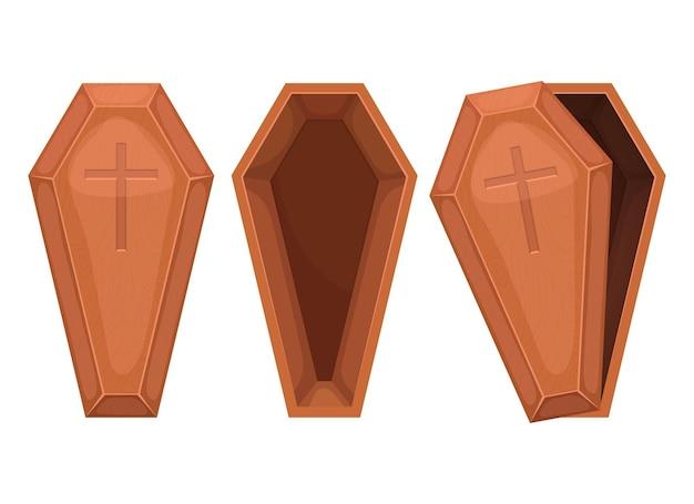 Houten kist vector ontwerp illustratie geïsoleerd op een witte background