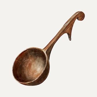 Houten lepel illustratie vector, geremixt van het kunstwerk van elmer weise