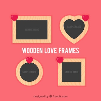 Houten liefde frames
