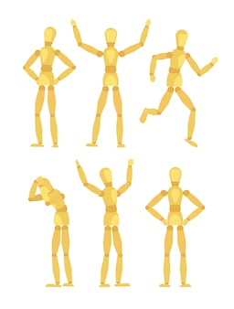 Houten mannequins