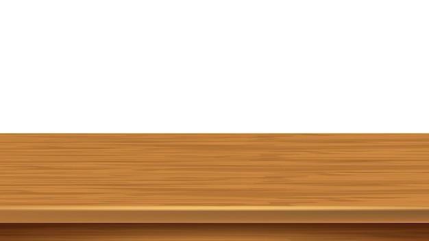 Houten plank lege boekenplank ruimte oppervlak