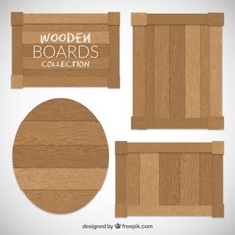 Houten planken collectie