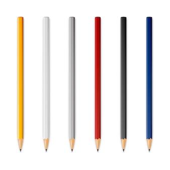 Houten scherpe potloden