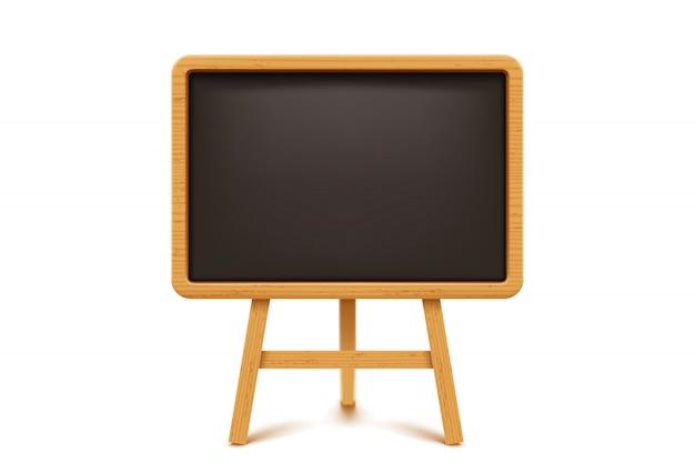 Houten schoolbord op wit