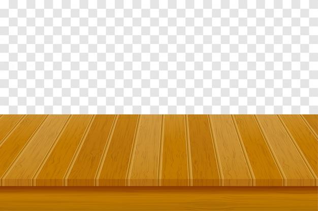Houten tafel illustratie