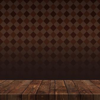 Houten tafel met achtergrond
