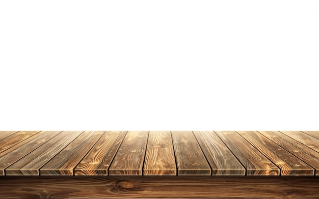 Houten tafelblad met verouderd oppervlak