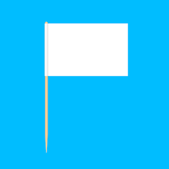 Houten tandenstokers vlaggen miniatuur geïsoleerd op blauw