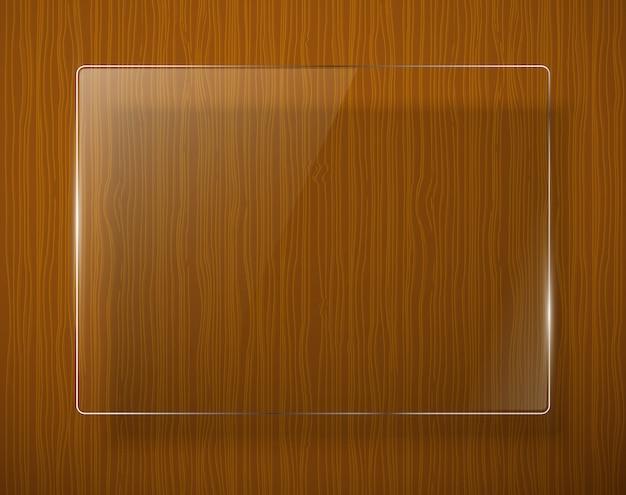 Houten textuur met glaskader