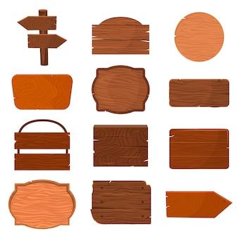 Houten uithangbord houten panelen