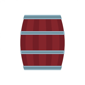 Houten vat alcohol bier illustratie drankje