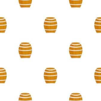 Houten vat voor wijnbier naadloos patroon