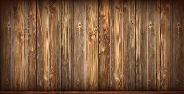 Houten wand en vloer met verouderd oppervlak, realistisch