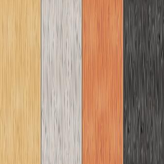 Houtstructuur op planken. verticale naadloze patronen. materiaal, naadloos, houten paneel, achtergrond en parket, vectorillustratie