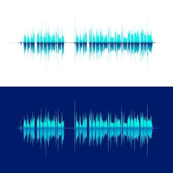 Hq vector geluidsgolven.