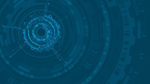 Hud abstracte cirkelstructuur futuristische gebruikersinterface
