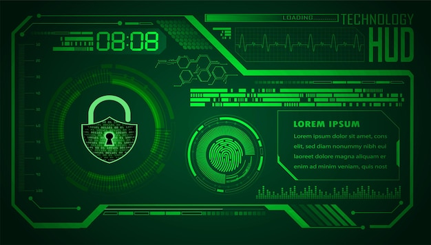Hud cyber security concept achtergrond