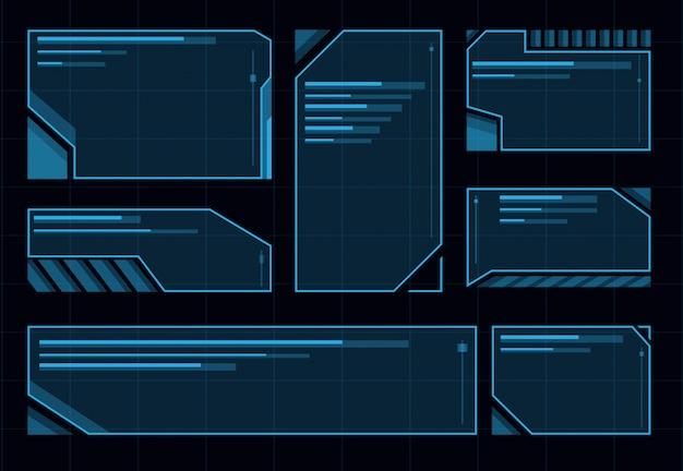 Hud futuristische gebruikersinterface set