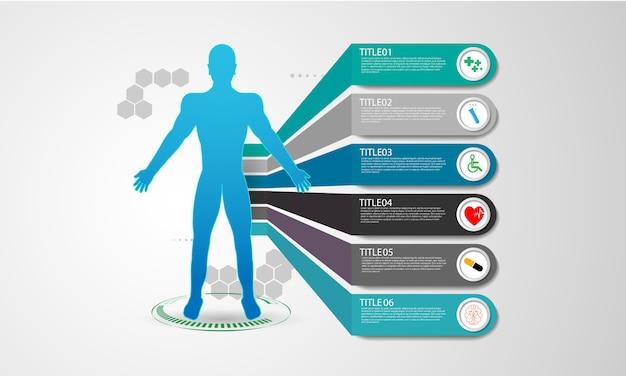 Hud interface virtuele hologram toekomstige gezondheidszorgsysteeminnovatie