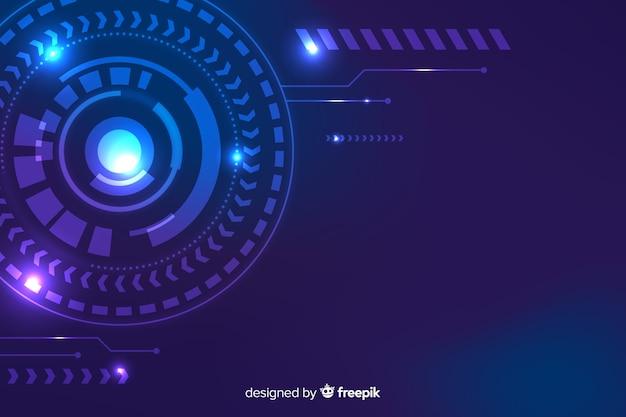 Hud technologie abstracte stijl als achtergrond