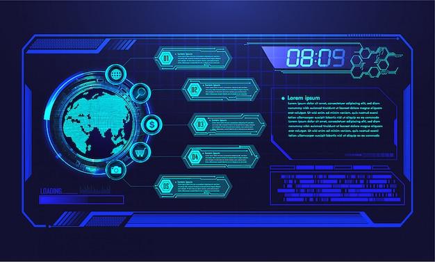 Hud wereld cyber circuit toekomstige technologie achtergrond