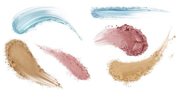 Huid foundation uitstrijk penseelstreken