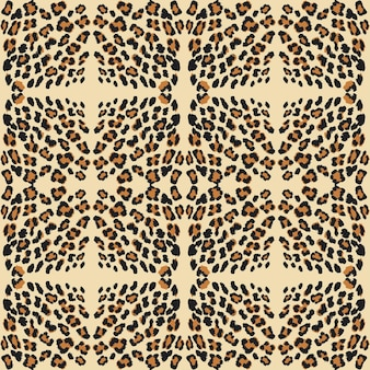 Huid met luipaardprint.