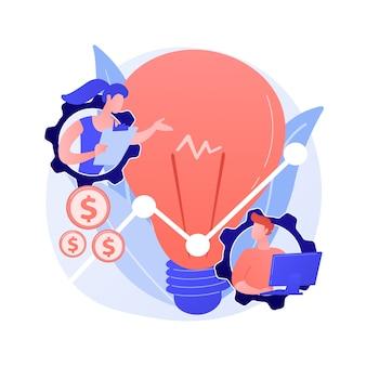 Huidige zakelijke trends. marketingtendensen, economische richting, innovatieve oplossingen. deskundige die nieuwe ideeën bestudeert, creatieve zakelijke benadering.