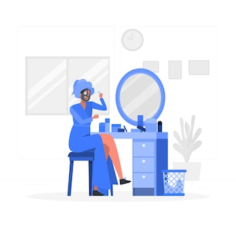 Huidverzorging concept illustratie