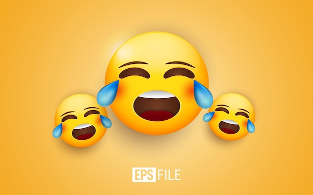 Huilend gezicht emoticons illustratie