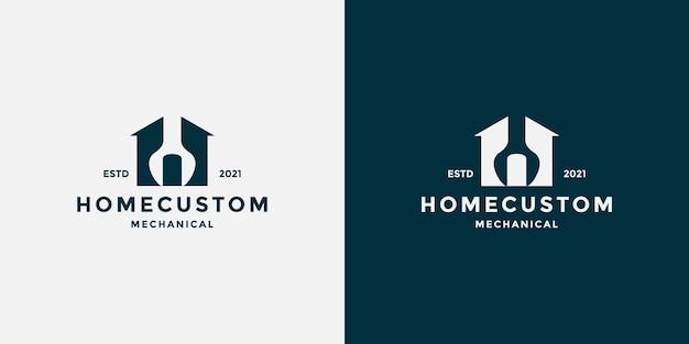 Huis aangepast logo-ontwerp voor uw monteur, werkplaats enz