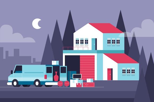 Huis bewegend concept
