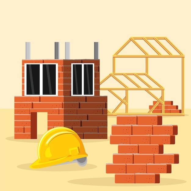 Huis bouw structuur