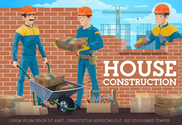 Huis bouwvakker, metselaar en voorman