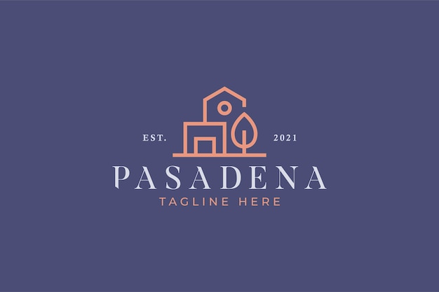 Huis en architect logo branding