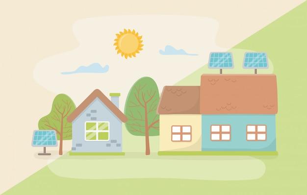 Huis en bespaar energieontwerp