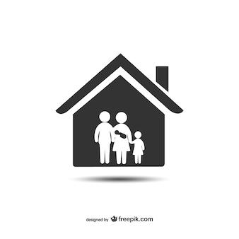 Huis en familie pictogram