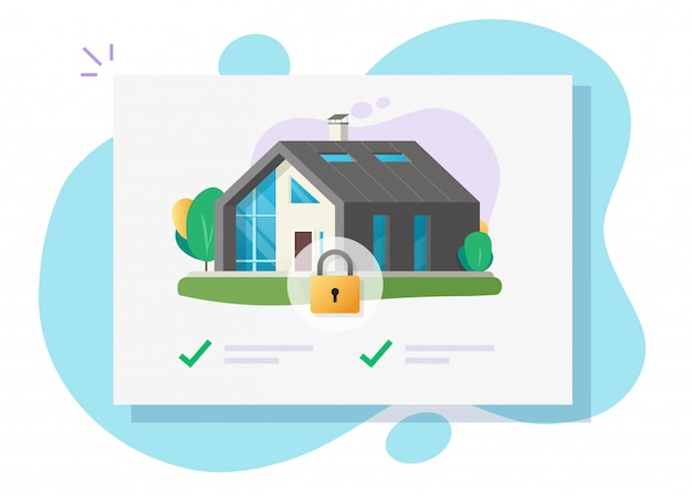 Huis en huisveiligheid illustratie