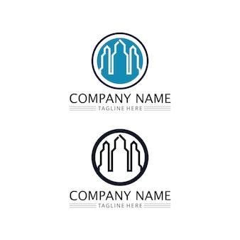 Huis en onroerend goed en huis gebouwen vector logo pictogrammen sjabloon
