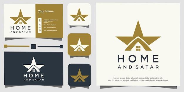 Huis- en sterlogo-ontwerp
