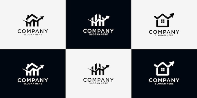 Huis financieel logo-ontwerp in bundel