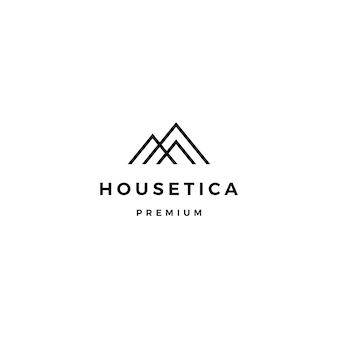 Huis huis hypotheek dak architect logo