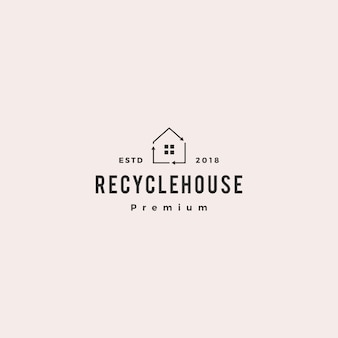 Huis huis recycle logo vector pictogram