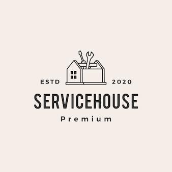 Huis huis service hipster vintage logo pictogram illustratie