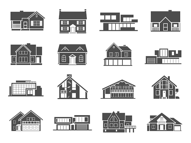 Huis icons set