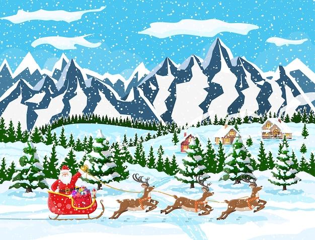 Huis in de voorsteden bedekt sneeuw illustratie