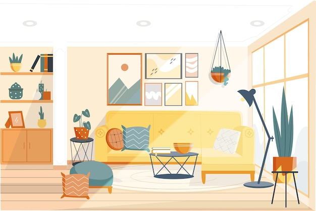 Huis interieur achtergrond concept