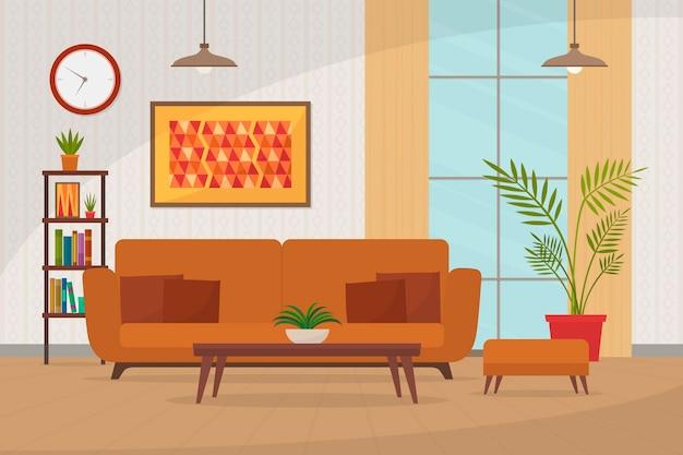 Huis interieur achtergrond voor videoconferenties