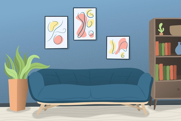 Huis interieur - achtergrond voor videoconferenties